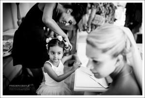 préparatifs du mariage, la mariée avec ses invités