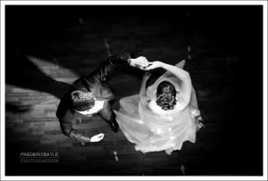 Ouverture du bal par les mariés au Pavillon Dauphine à Paris