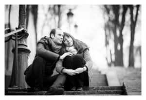 Photo de couple à Montmartre