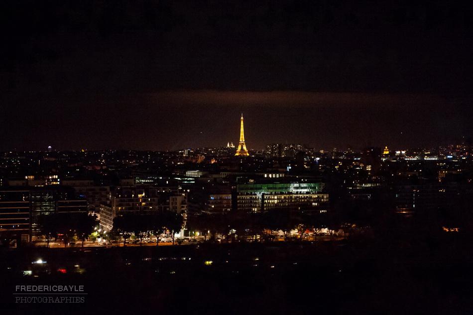 point de vue des érables à meudon sur Paris et la Tour Eiffel