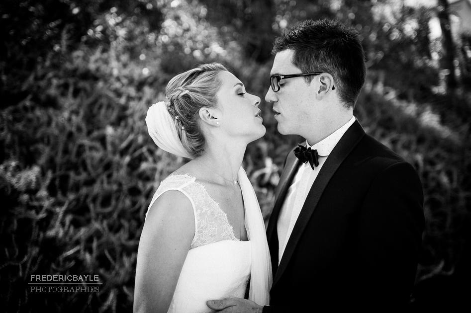 beau moment des mariés ensemble