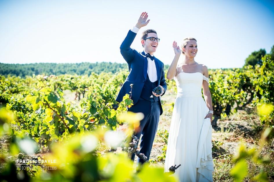 photos de couple dans les vignes