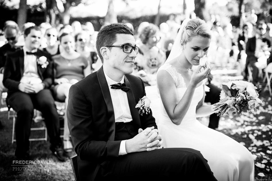 émotion des mariés