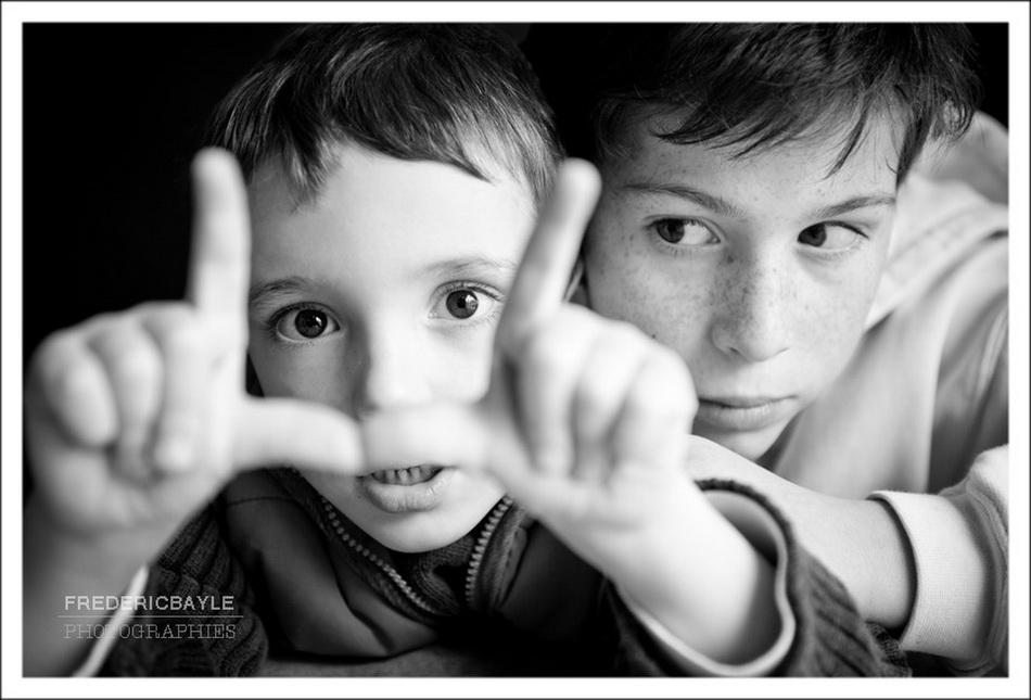 photo de famille, portrait de deux frères