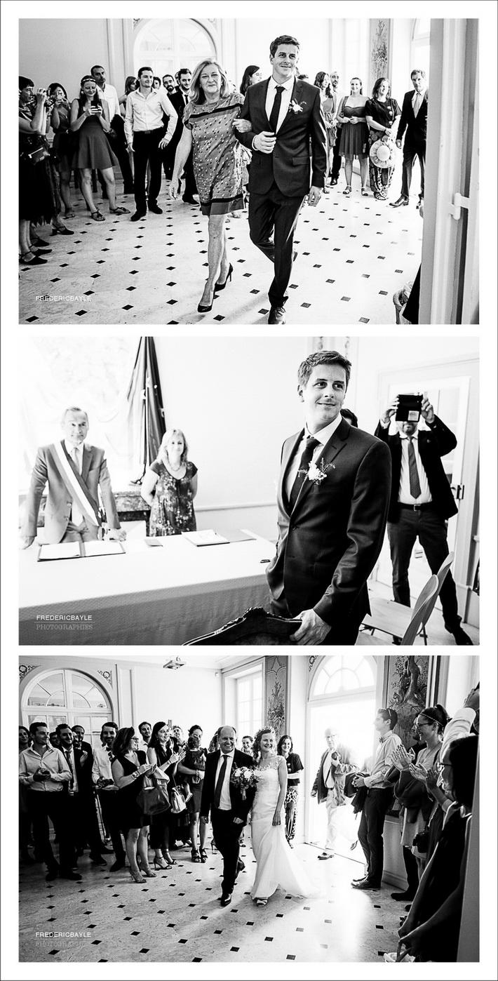 Entrée des mariés dans la salle des mariages