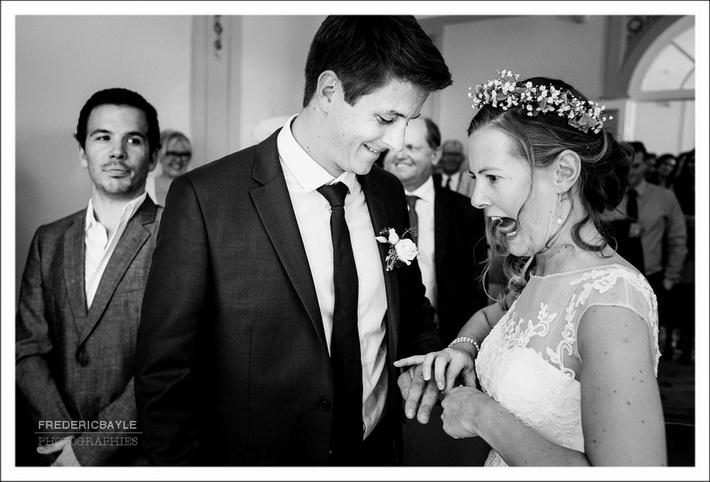 Remerciements des mariés