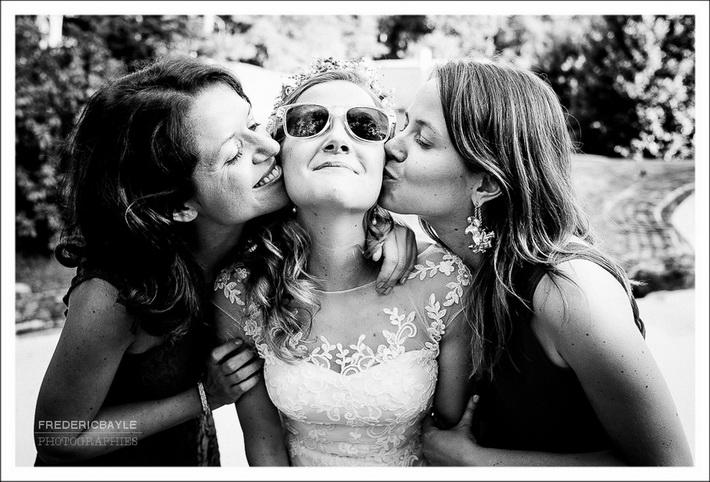 Photos de l'heureuse élue pour le bouquet