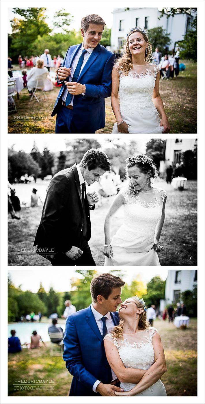Un beau moment entre les mariés