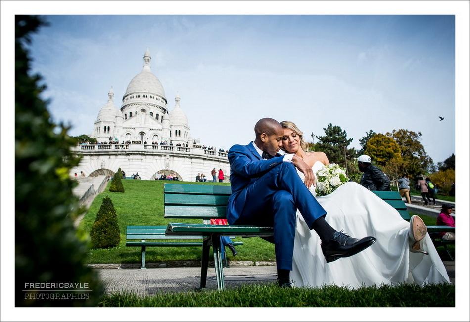 Plan général des mariés devant le Sacré Coeur