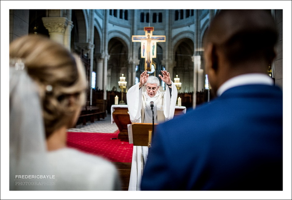Début de la messe de mariage
