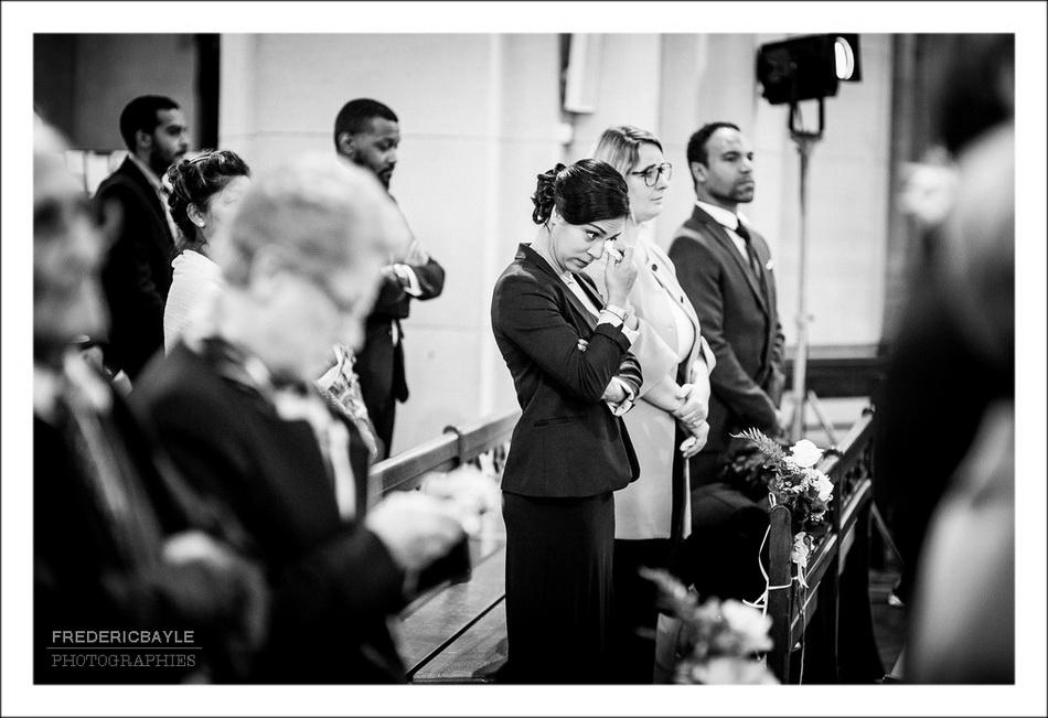 Plan sur les invités du mariage