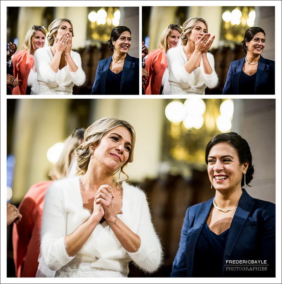 Triptyque du mariage à l'église