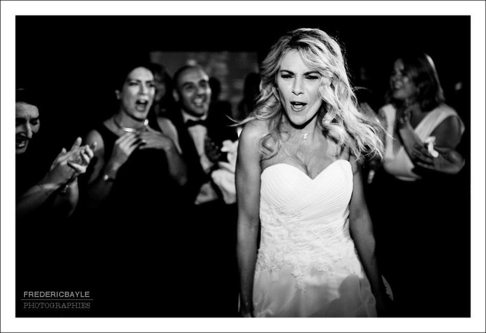 Gros plan sur la mariée