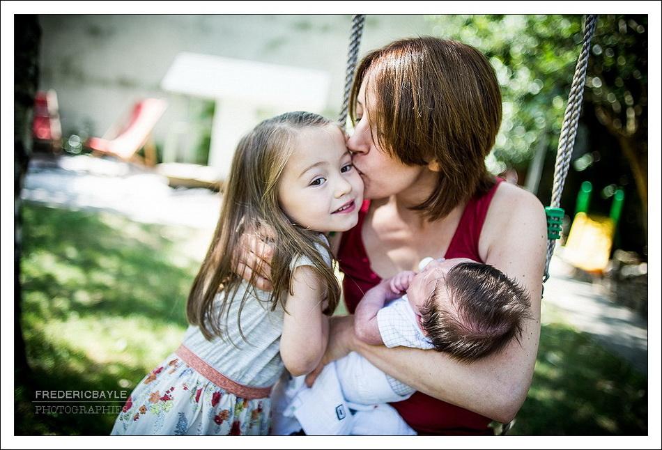 photo de famille : maman et bébé