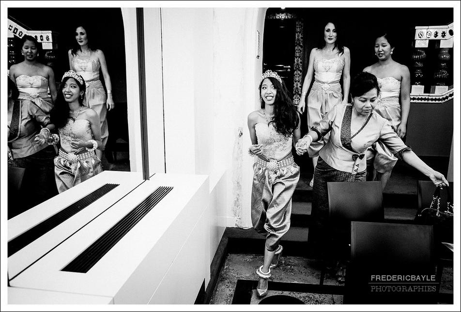 Entrée de la mariée dans la salle du mariage