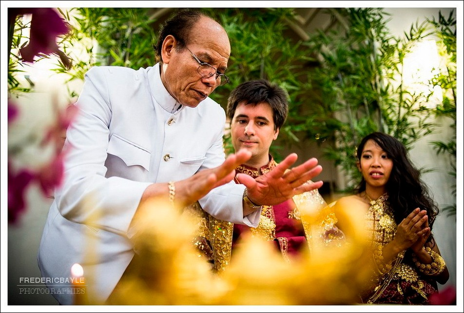 Reprise de la cérémonie de mariage