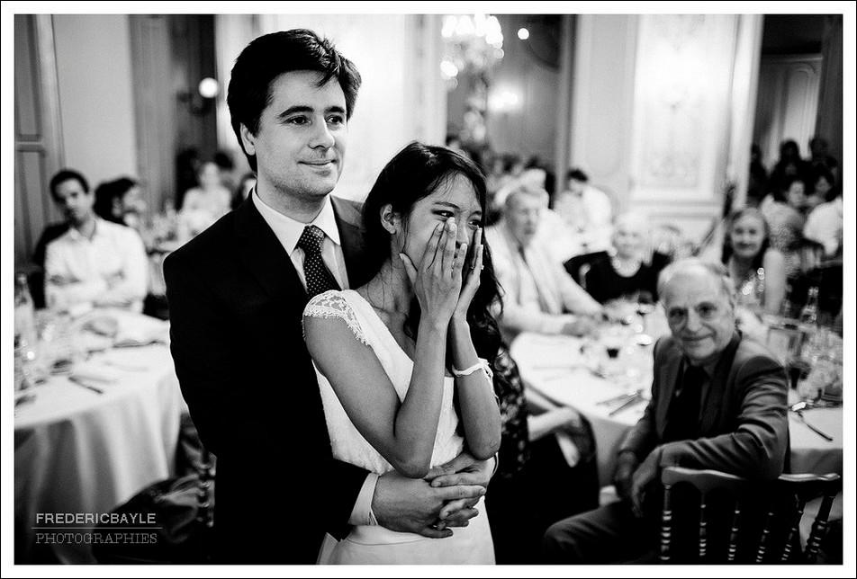 Moment d'émotion de la mariée