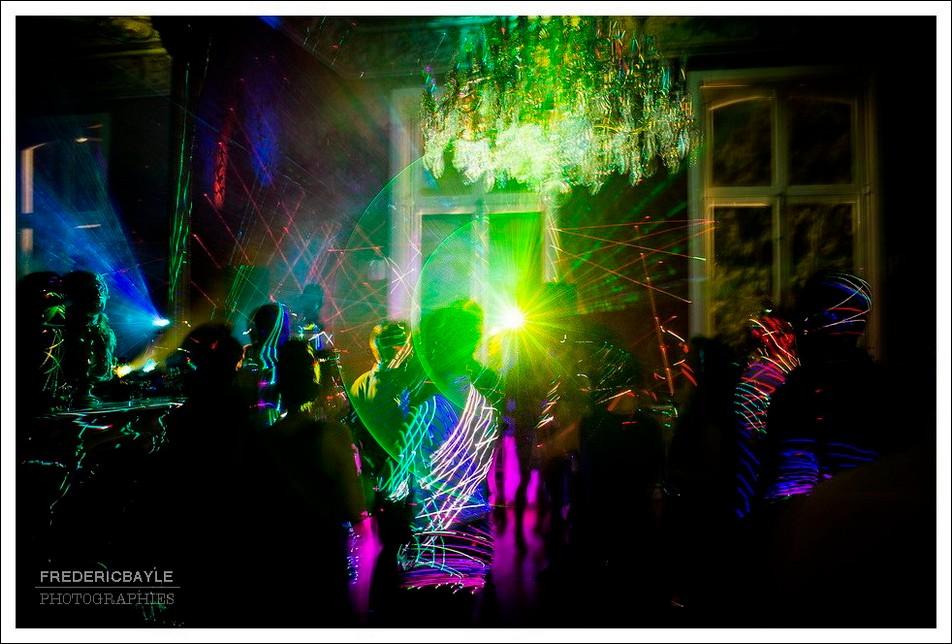 Lighting de la soirée de mariage