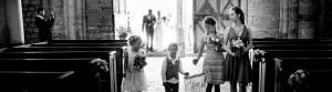 vignette pour l'entrée de la mariée dans l'église