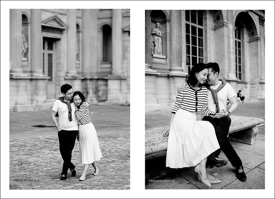 Séance de couple sur les berges de la Seine