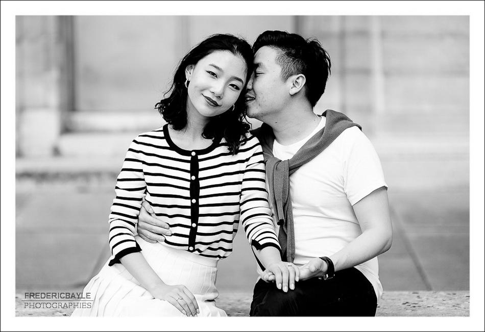 belle séance photos de couple à Paris