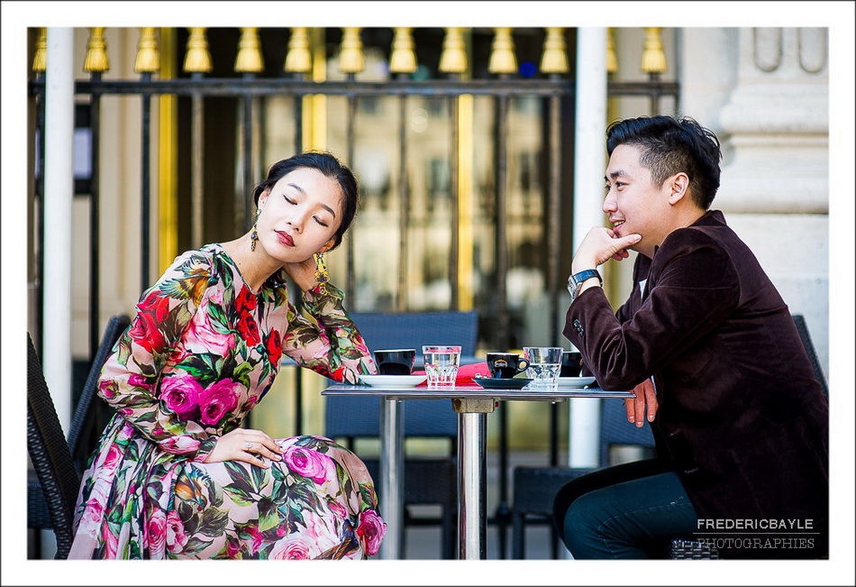 couple chinois à Paris