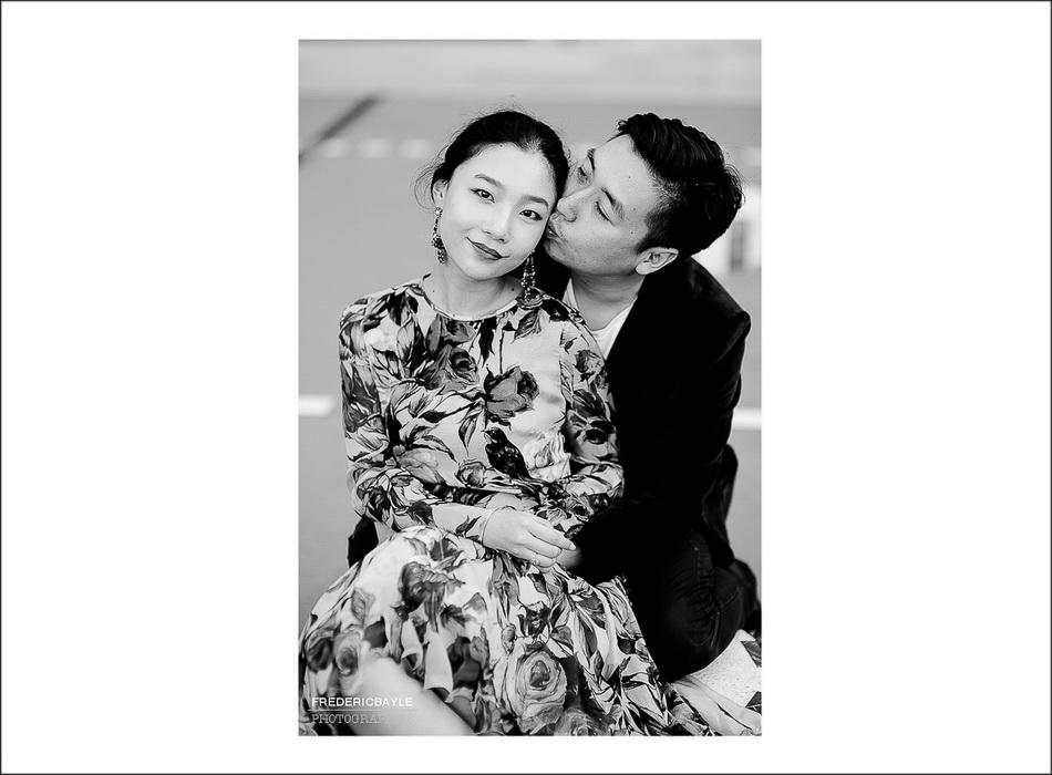 Scène romantique de couple d'amoureux