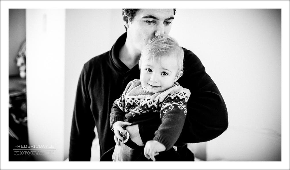 papa avec son petit garçon