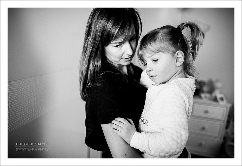 la vie de famille en noir et blanc