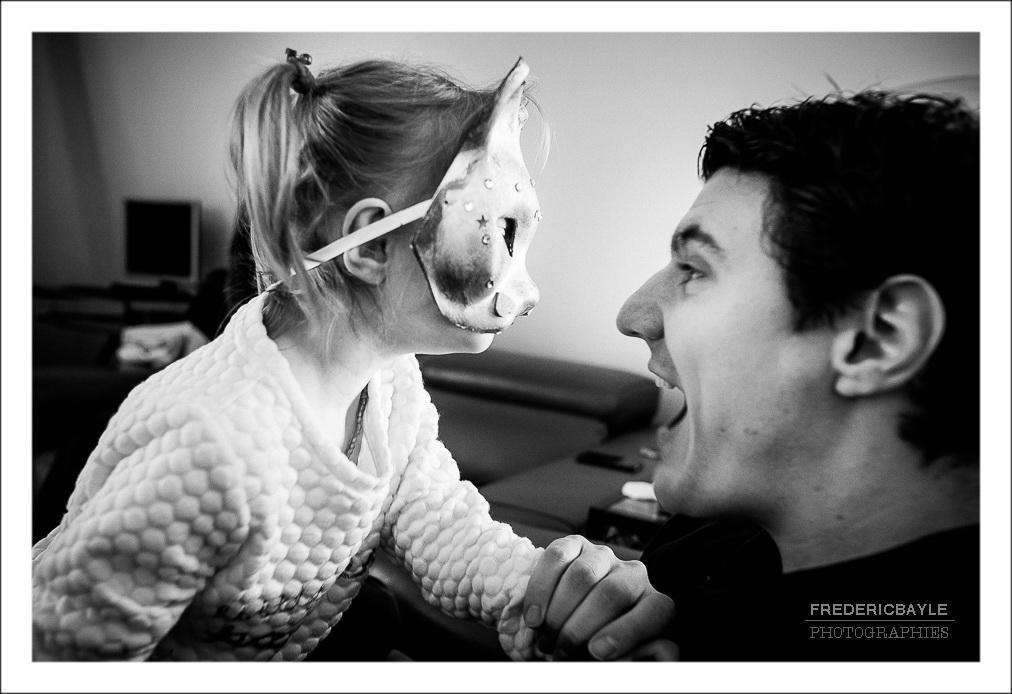 scène de vie, papa avec sa fille