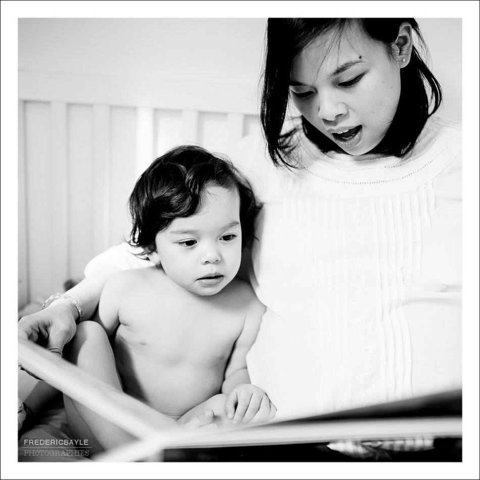 séance de lecture durant la grossesse