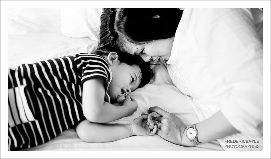 gros plan de maman avec son enfant