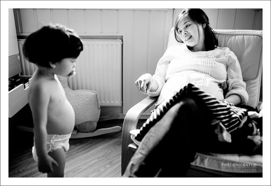 grossesse à Paris, maman et son enfant