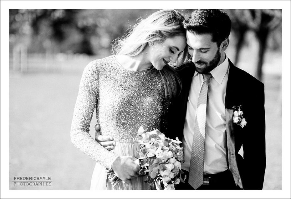Love session, portrait des mariés lors d'un reportage de mariage à Lyon