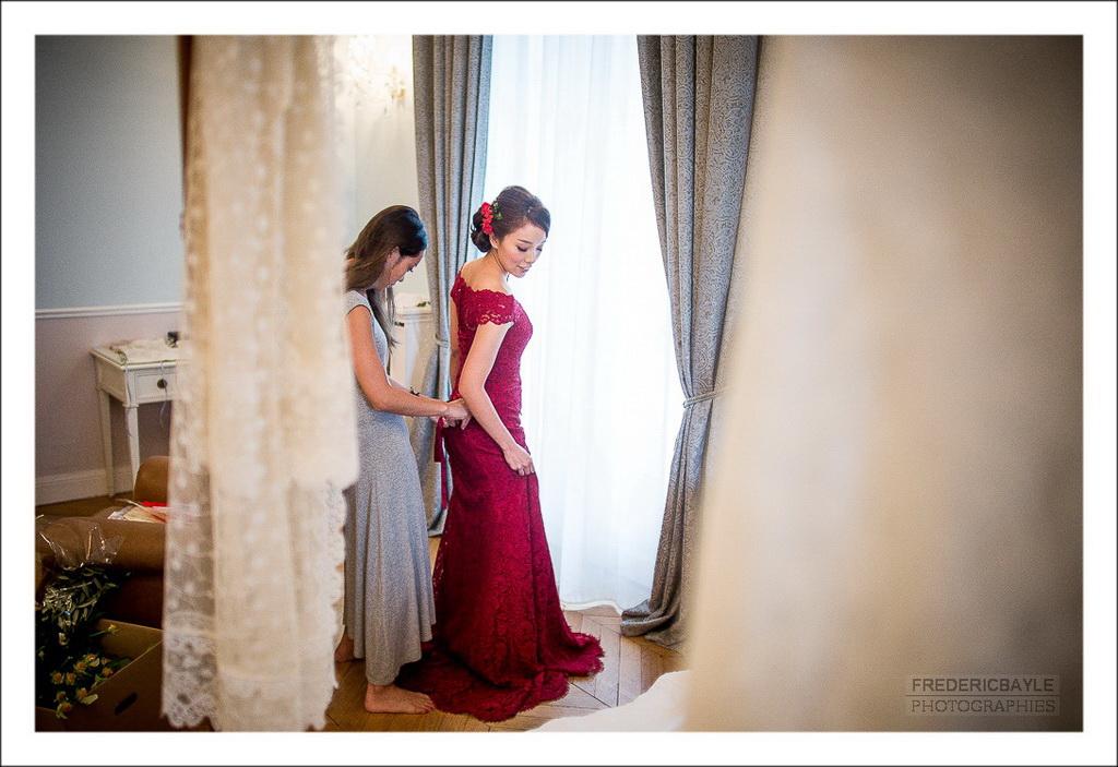 préparatifs de la mariée avant la cérémonie du thé