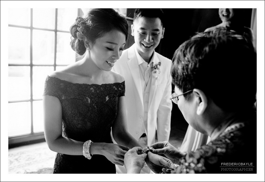 photos en noir et blanc de la cérémonie