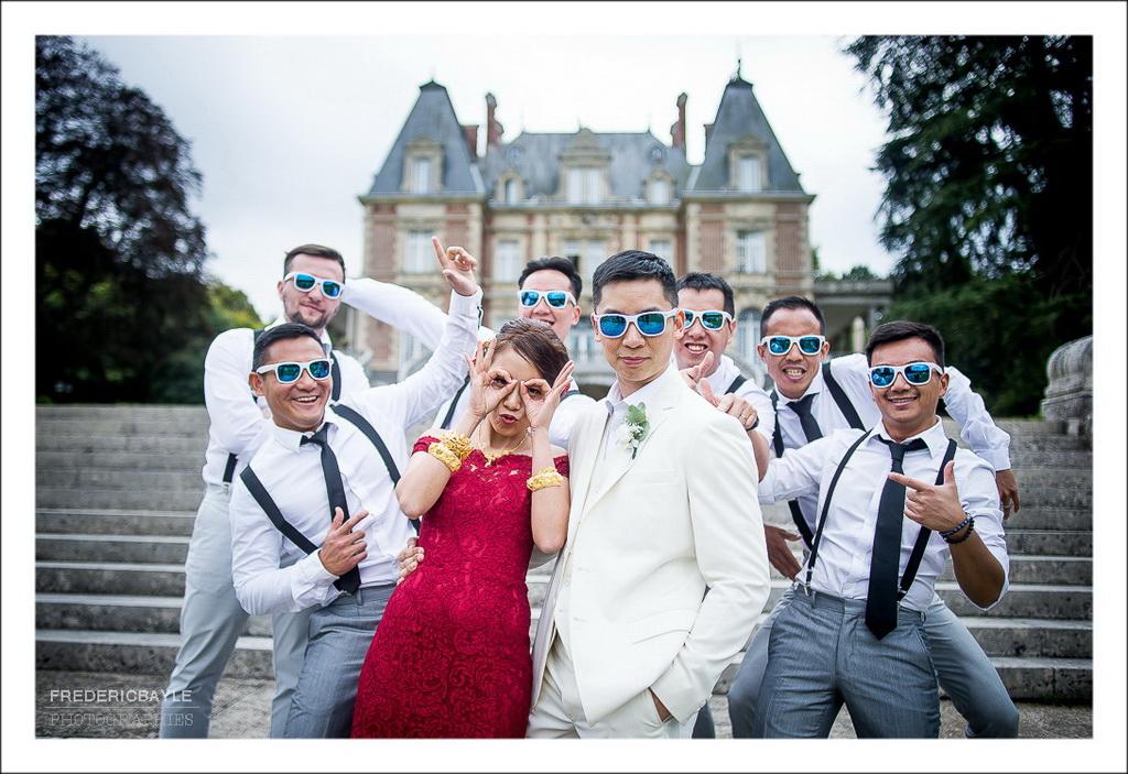 photos de groupe avec lunettes fun