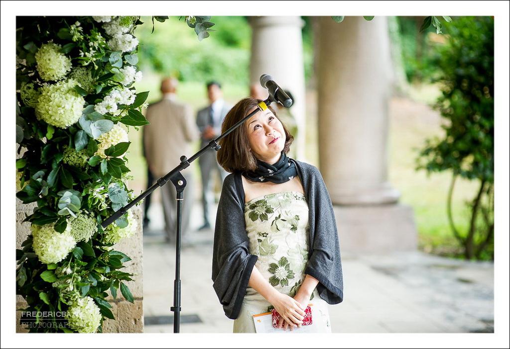 la maitresse de cérémonie, photos ironique
