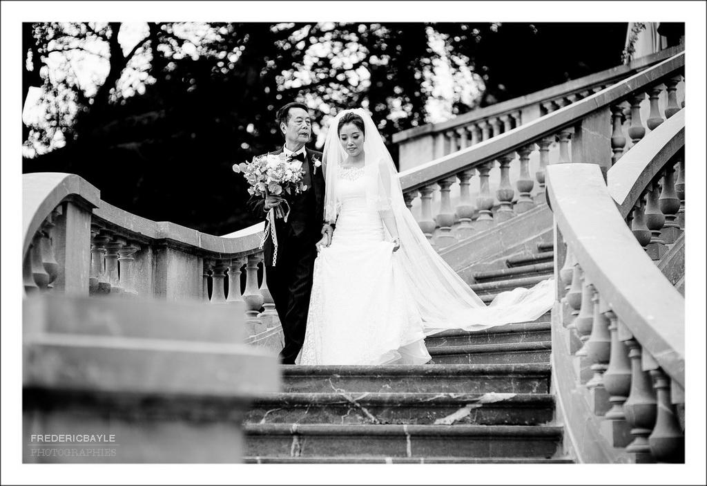arrivée de la mariée avec son père