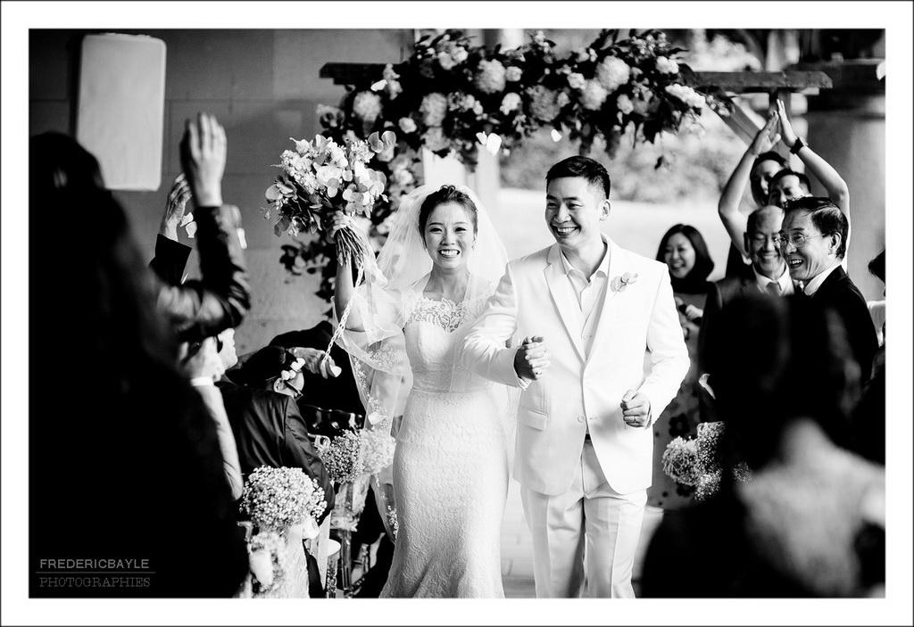 fin de la cérémonie et sortie des mariés