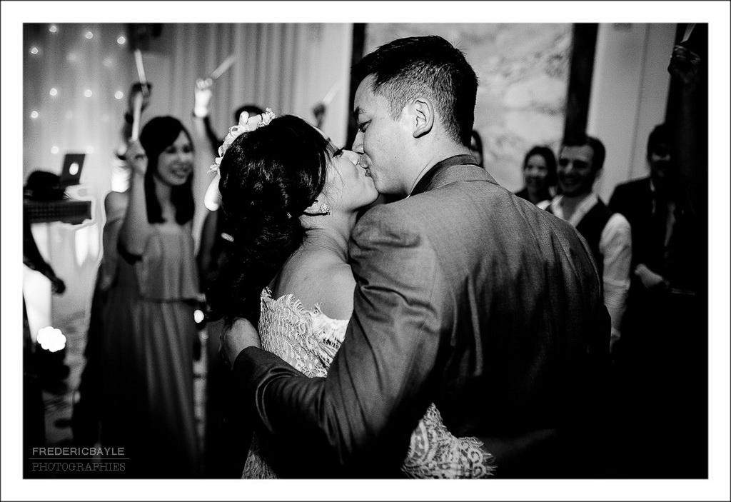 début de la soirée dansante du mariage