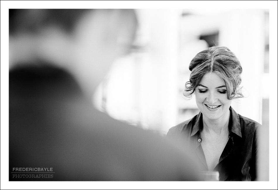 photos de la mariée chez Dessange, Paris, gros plan de la coiffure