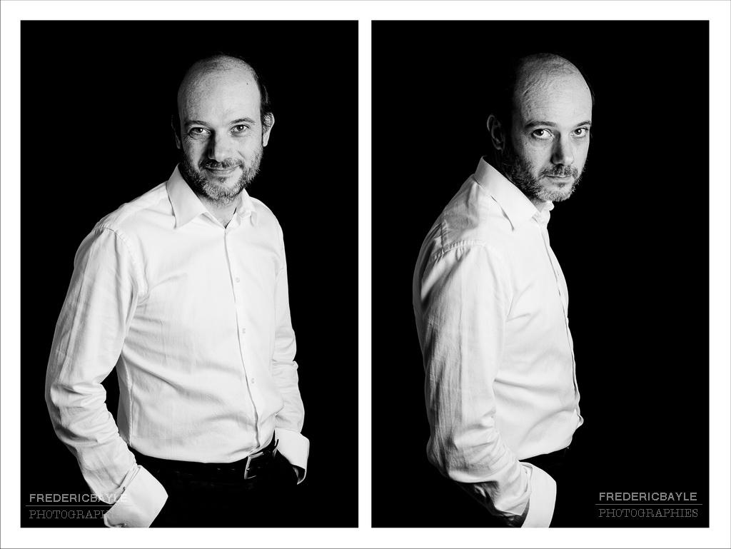 portraits corporate en format buste et en noir et blanc
