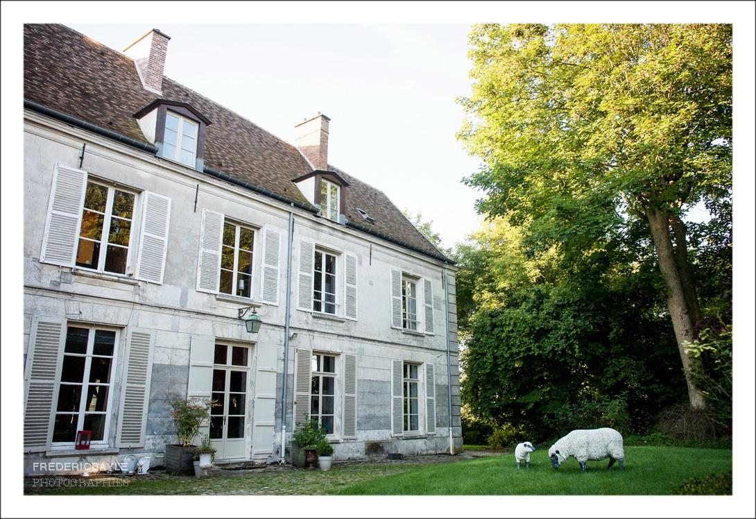 Mariage à Senlis, vu de la chambre d'hôtes Parseval