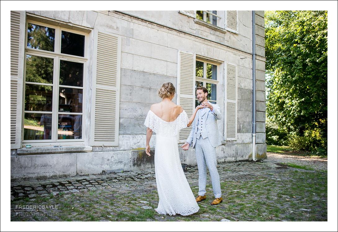 La rencontre des mariés : émotion !