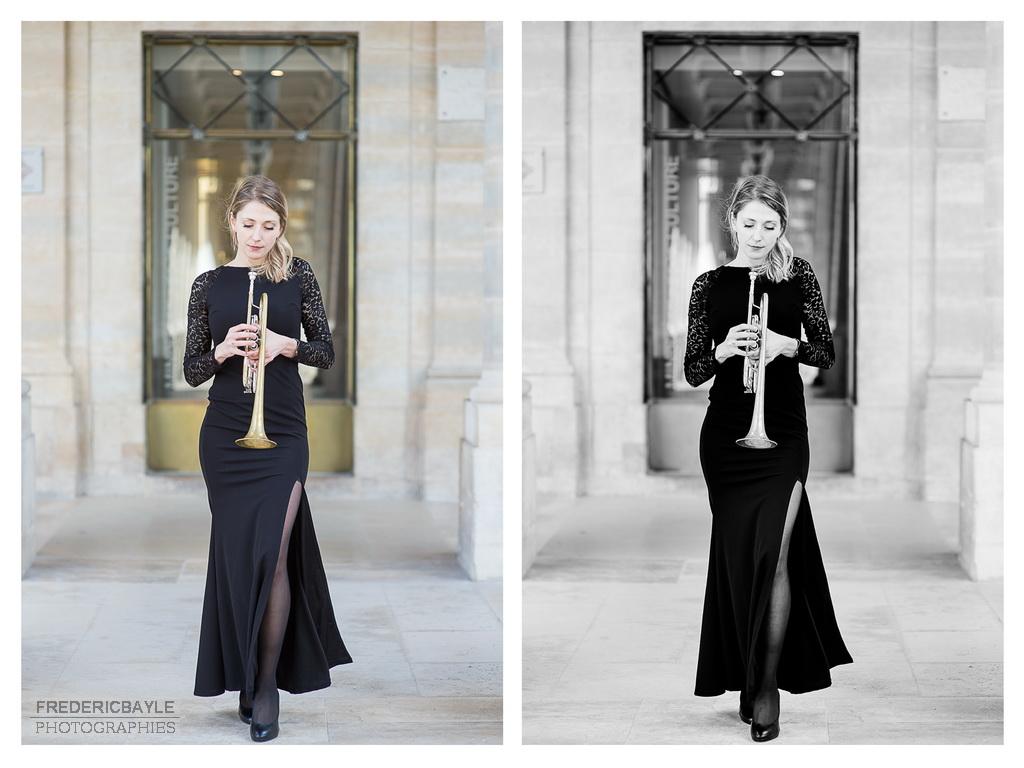 artiste à Paris, Pauline pose pour le photographe