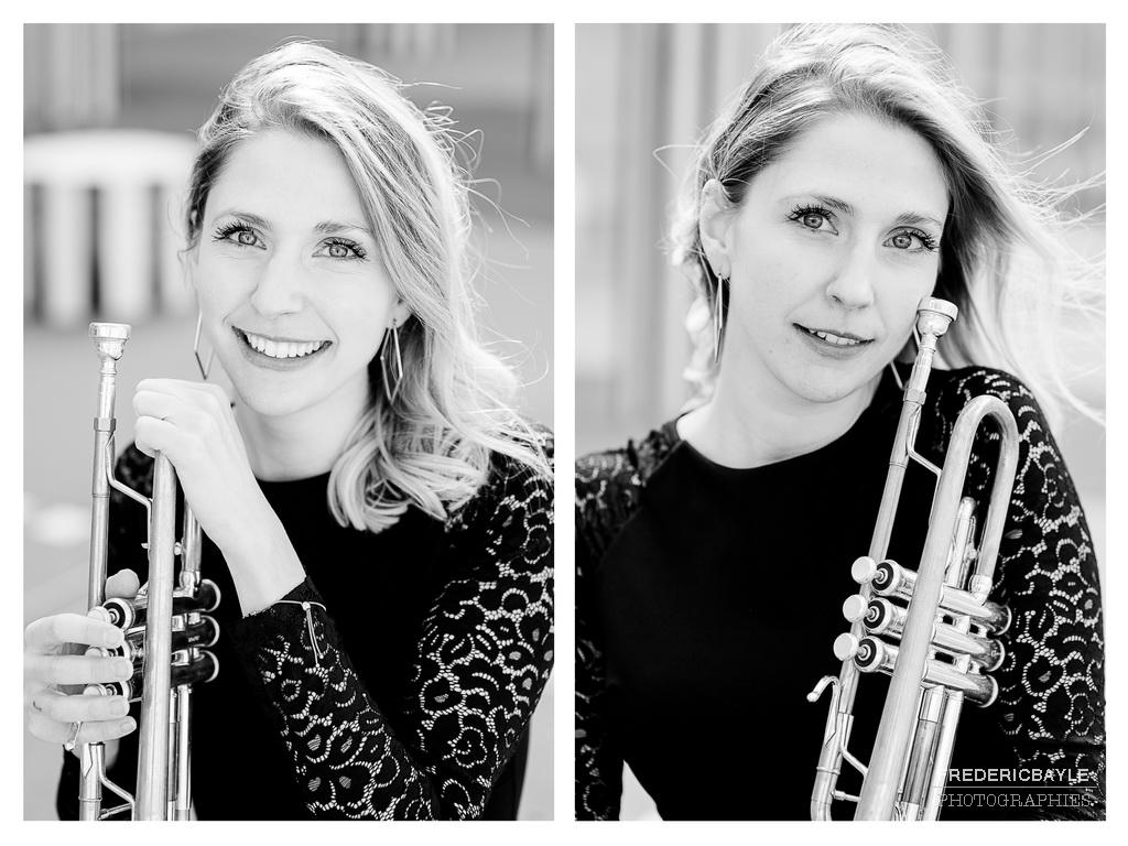 portraits plein de vie de cette trompettiste pleine de talent