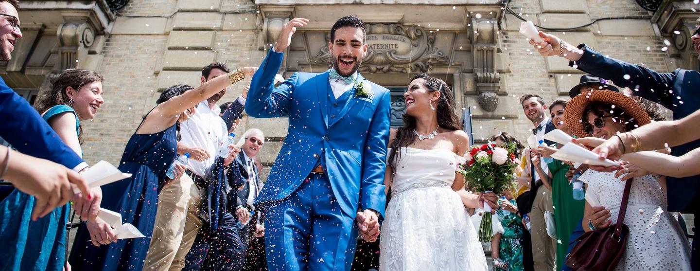 Mon activité photographe de mariage, sortie de mairie des mariés