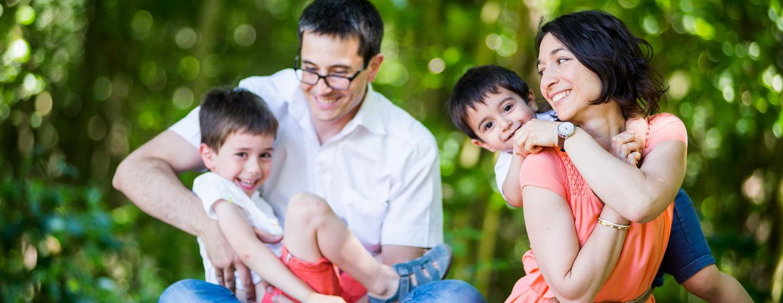 mon activité de photographe reportage photos de famille : la famille au grand complet