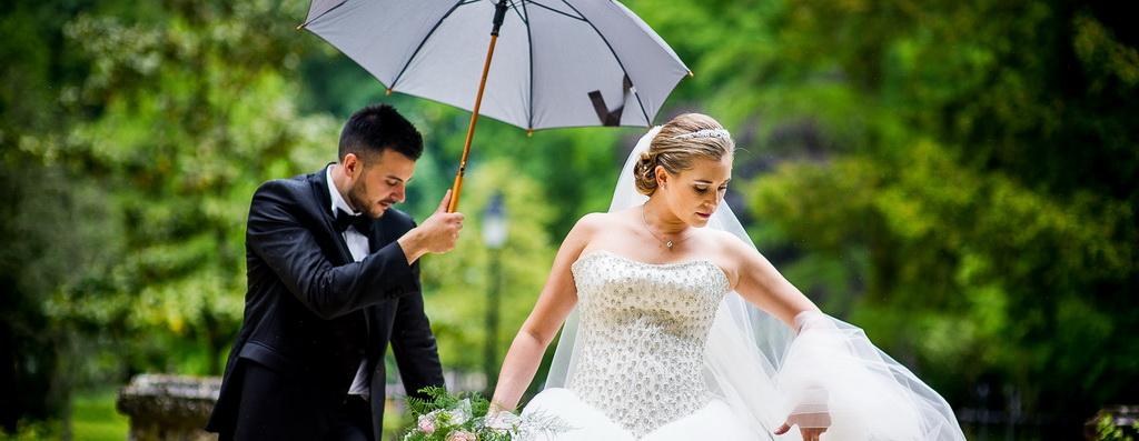 Mariage sous la pluie : des photos de couple photogénique !